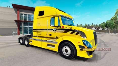 Скин Robert Transport на тягач Volvo VNL 670 для American Truck Simulator