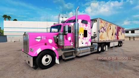 Скин Sakura на тягачи Peterbilt и Kenwort для American Truck Simulator