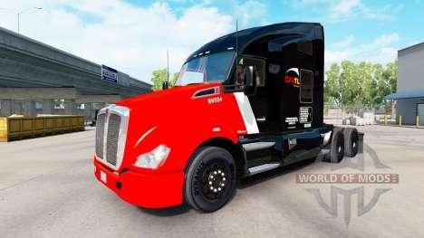 Скин CN Transportation на тягачи Pet и Ken для American Truck Simulator