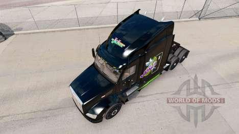 Скин Joker на тягач Peterbilt для American Truck Simulator