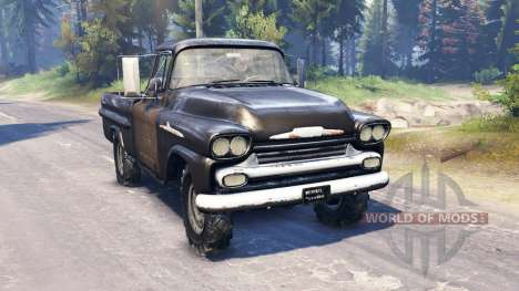 Chevrolet Apache 1959 v2.0 для Spin Tires