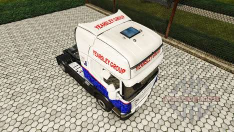 Скин Yearsley на тягач Scania для Euro Truck Simulator 2