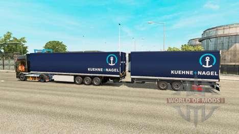 Полуприцепы Krone Gigaliner [Kuehne Nagel] для Euro Truck Simulator 2