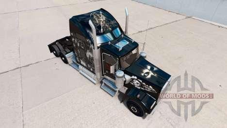 Скин Skull на тягач Kenworth W900 для American Truck Simulator