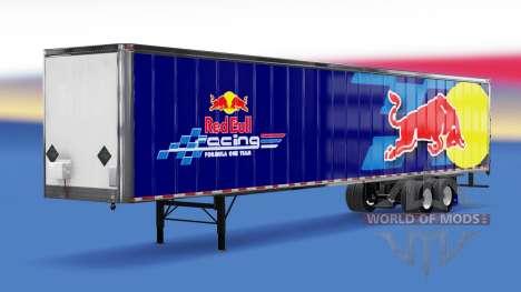 Цельнометаллический полуприцеп RedBull для American Truck Simulator