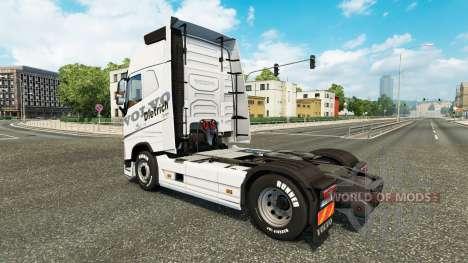 Скин Dietrich на тягач Volvo для Euro Truck Simulator 2