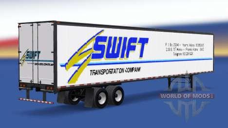 Цельнометаллический полуприцеп Swift для American Truck Simulator