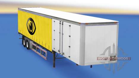30 тонный шторный полуприцеп для American Truck Simulator