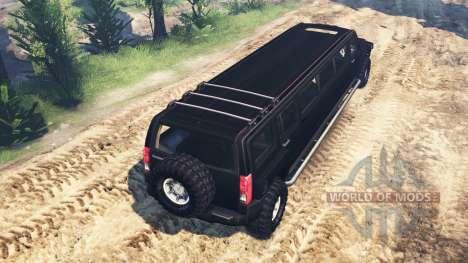 Hummer H3 [limousine] для Spin Tires