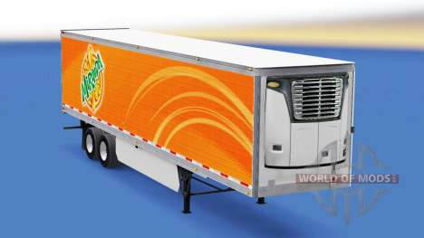 Скин Mirinda на рефрижераторный полуприцеп для American Truck Simulator