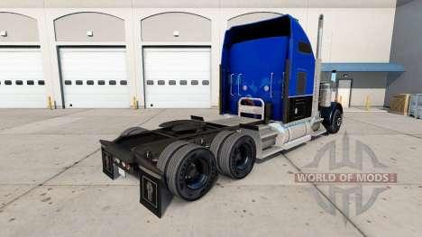 Скин Black and Blue на тягач Kenworth W900 для American Truck Simulator