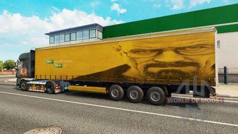 Скин Walter White на полуприцеп для Euro Truck Simulator 2