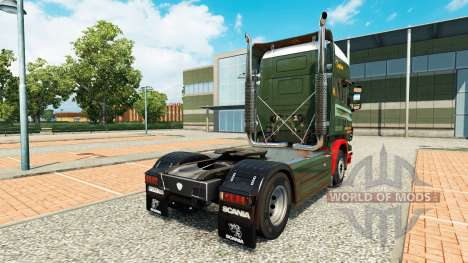 Скин Edwards Transport на тягач Scania для Euro Truck Simulator 2