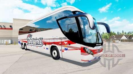 Скин Patriots на автобус Mascarello Roma 370 для American Truck Simulator
