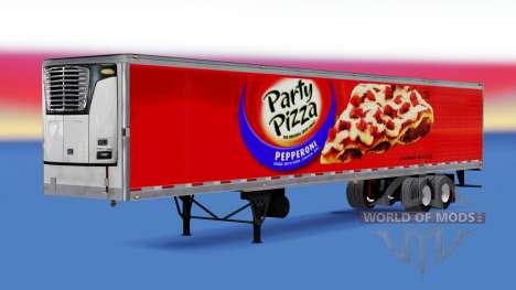 Рефрижераторный полуприцеп Party Pizza для American Truck Simulator