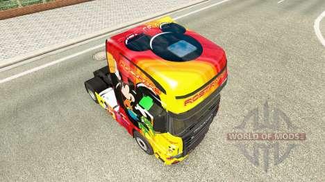 Скин Rostrans Disney на тягач Scania R700 для Euro Truck Simulator 2