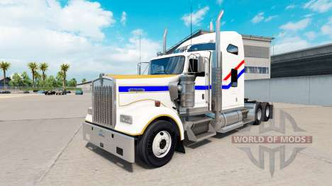Скин Bicentennial v2.0 на тягач Kenworth W900 для American Truck Simulator