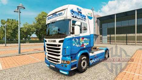 Скин Smurfs на тягач Scania для Euro Truck Simulator 2