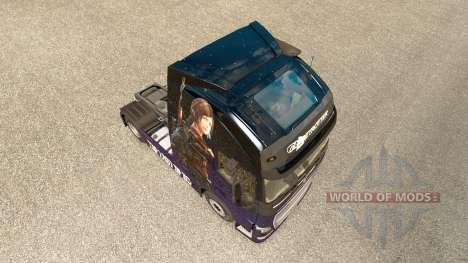 Скин The Last Of Us на тягач Volvo для Euro Truck Simulator 2