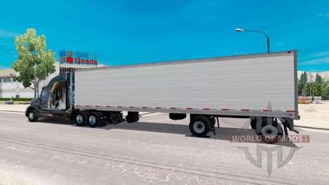Двуосный рефрижераторный полуприцеп для American Truck Simulator