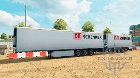 Полуприцепы Krone Gigaliner [DB Schenker] для Euro Truck Simulator 2