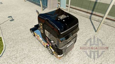 Скин Sticker Bomb на тягач Scania для Euro Truck Simulator 2