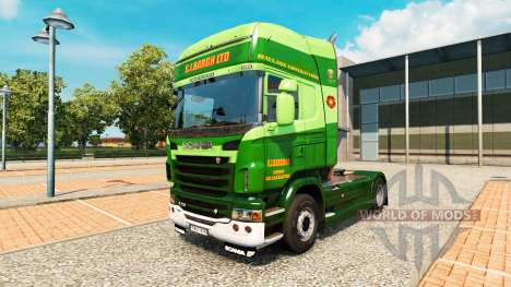 Скин S.J.Bargh на тягач Scania для Euro Truck Simulator 2