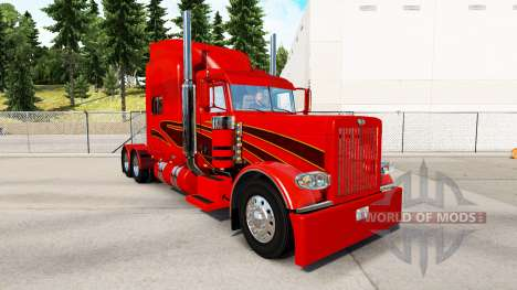 Скин Orange Show на тягач Peterbilt 389 для American Truck Simulator
