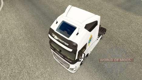 Скин Forsvarsmakten на тягач Volvo для Euro Truck Simulator 2