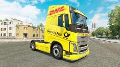 Скин DHL на тягач Volvo