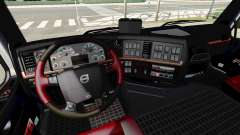 Чёрно-красный интерьер Volvo