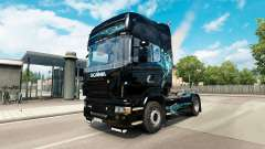 Скин Turquoise Smoke на тягач Scania
