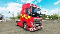 Скин Fire & Rescue на тягач Volvo