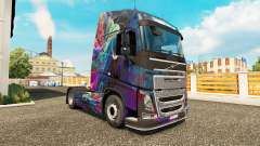 Скин Fractal Flame на тягач Volvo