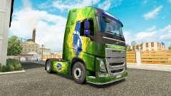 Скин Brasil на тягач Volvo