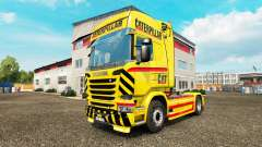Скин CAT на тягач Scania