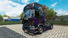 Скин Fractal Flame на тягач Scania