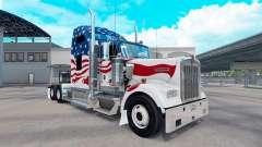 Скин USA на тягач Kenworth W900