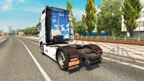 Скин Gone на тягач Volvo для Euro Truck Simulator 2