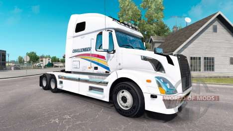 Скин Challenger на тягач Volvo VNL 670 для American Truck Simulator