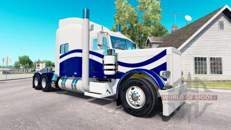 Скин Custom 9 на тягач Peterbilt 389 для American Truck Simulator