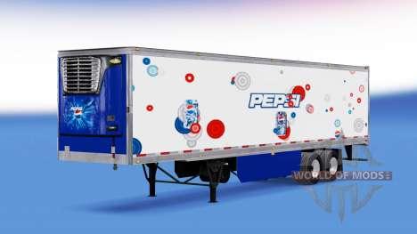 Скин Pepsi на рефрижераторный полуприцеп для American Truck Simulator