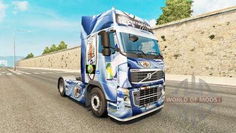 Скин Uruguay Copa 2014 на тягач Volvo для Euro Truck Simulator 2
