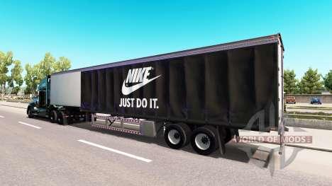 Скин Nike на тягач Kenworth для American Truck Simulator