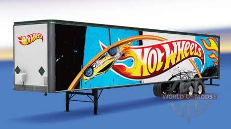 Цельнометаллический полуприцеп Hot Wheels для American Truck Simulator