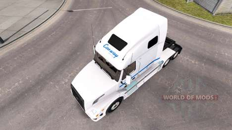 Скин Con-way Truckload на тягач Volvo VNL 670 для American Truck Simulator