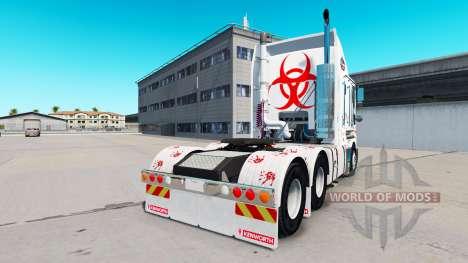 Скин Zombie Hunter v2.0 на тягач Kenworth K200 для American Truck Simulator
