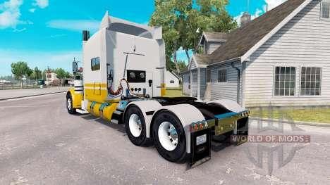 Скин United Van Lines на тягач Peterbilt 389 для American Truck Simulator