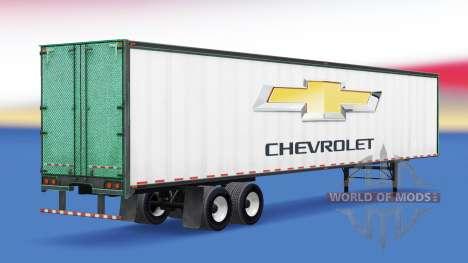 Скин Chevrolet на полуприцеп для American Truck Simulator