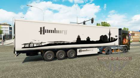 Скин Hamburg на полуприцеп для Euro Truck Simulator 2